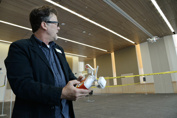 VCU students get hands-on experience with flying drones — inside Cabell Library | VCU News